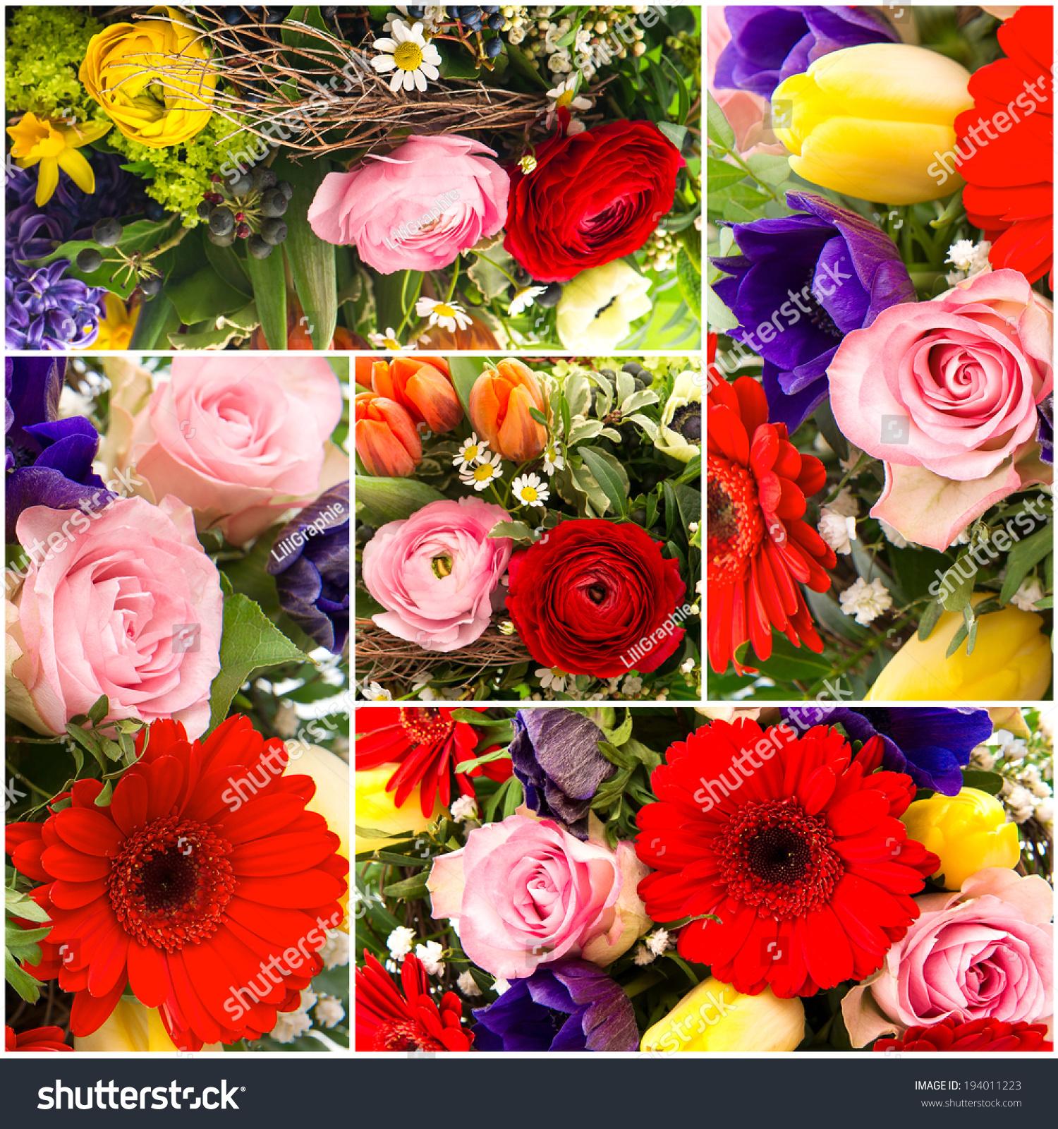 Bouquet Colorful Spring Flowers Tulip Ranunculus Stock Photo Edit Now 194011223