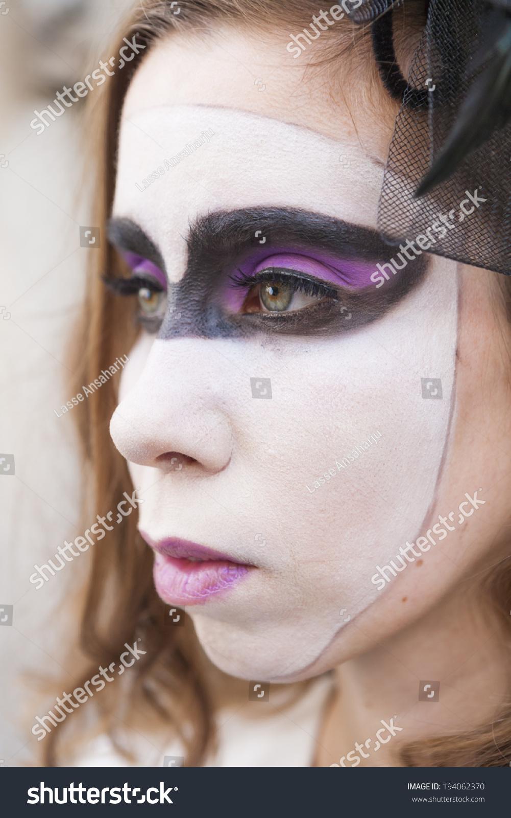 finnish model harlequin makeup stock photo 194062370 shutterstock. Black Bedroom Furniture Sets. Home Design Ideas