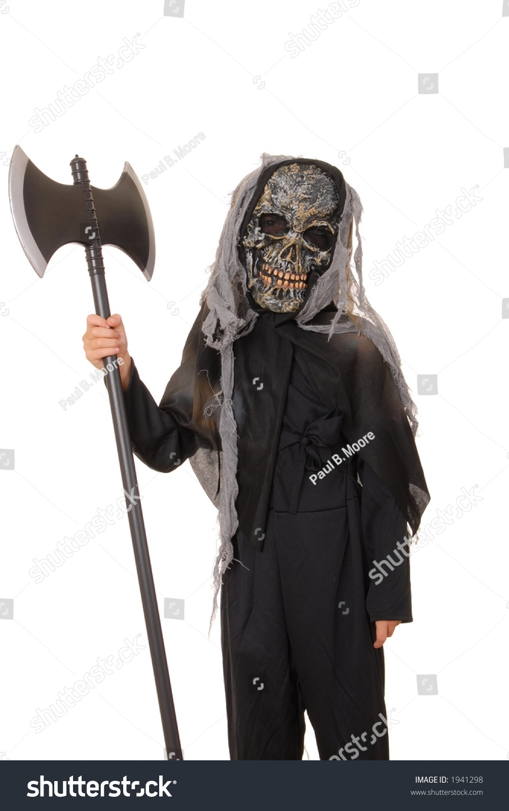 Young Boy Ghoul Halloween Costume Stock Photo 1941298 - Shutterstock