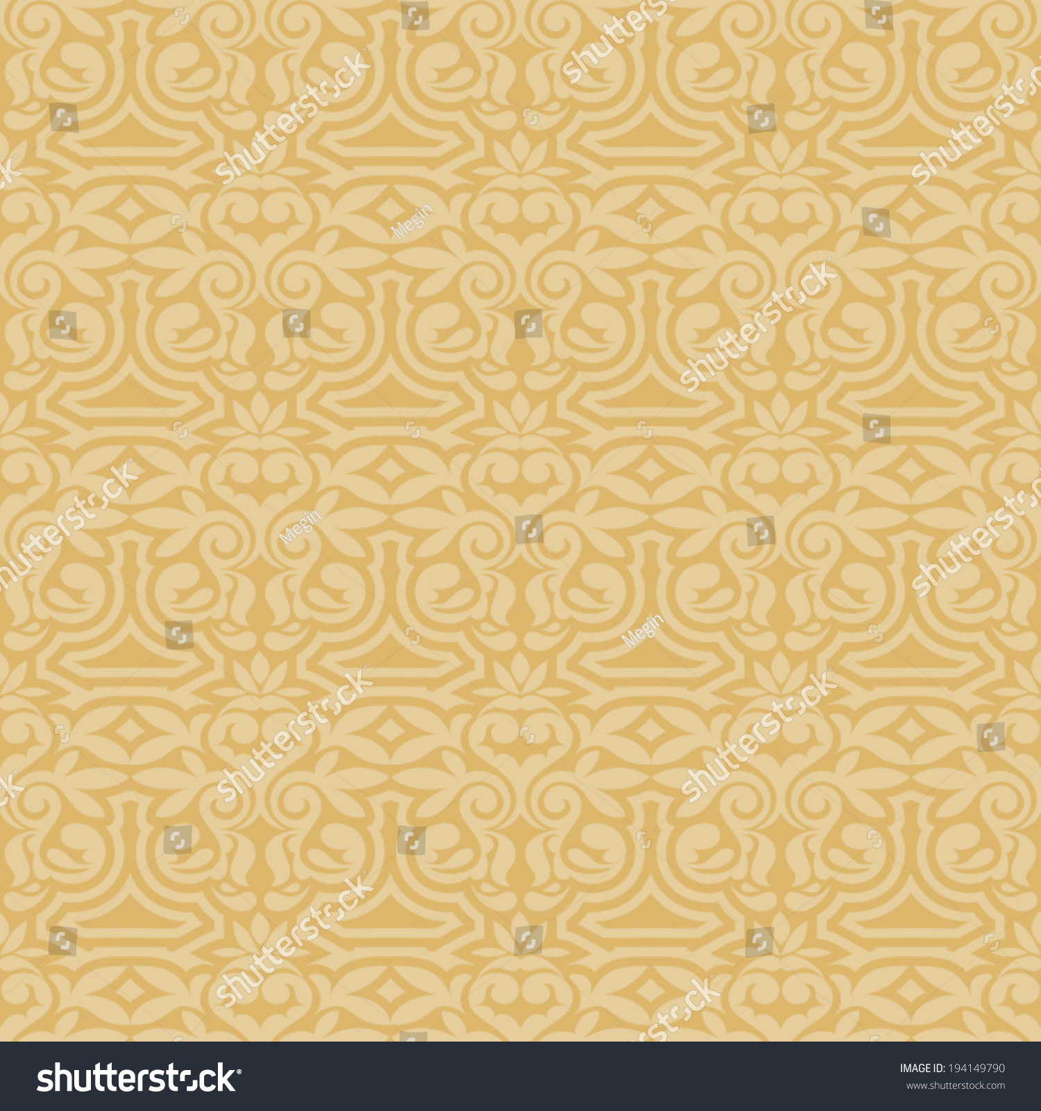 Elegant Cream Hallway With Damask Wallpaper: Damask Beautiful Background Rich Luxury Ornamentation