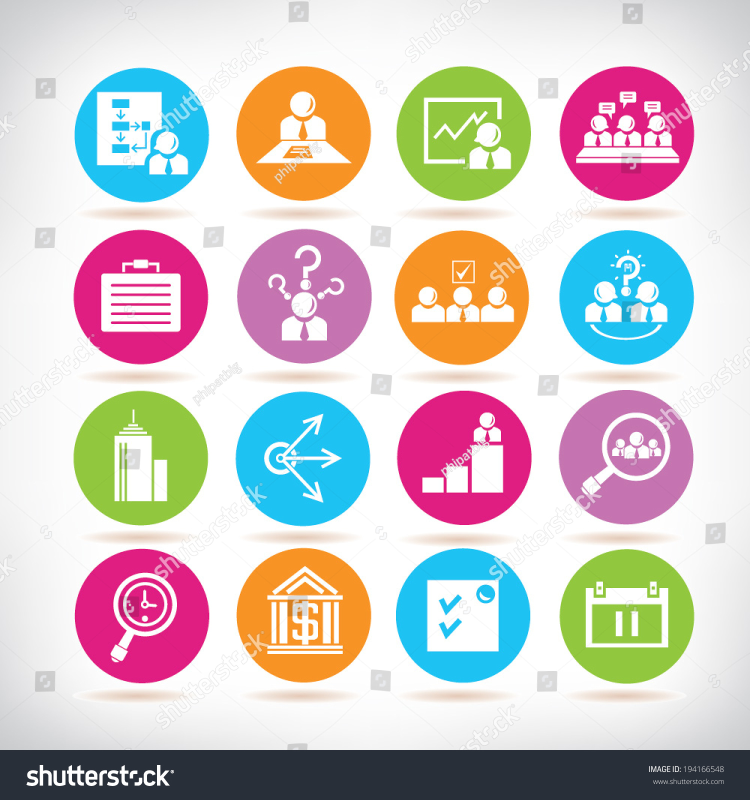 Business Development Icon : Business development icons management stock