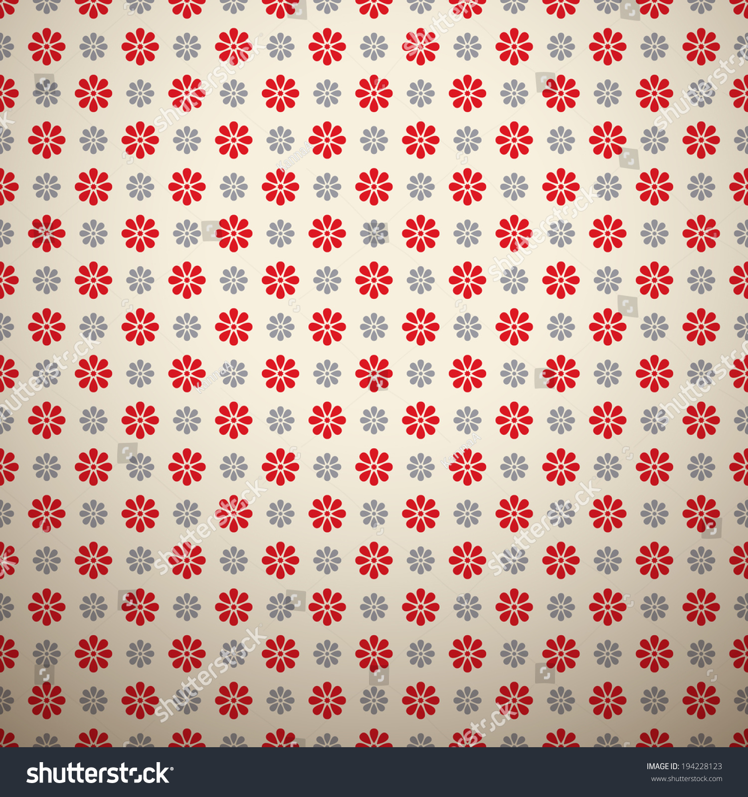 Floral Fashionable Vector Pattern Tiling Retro Stock Vector ...