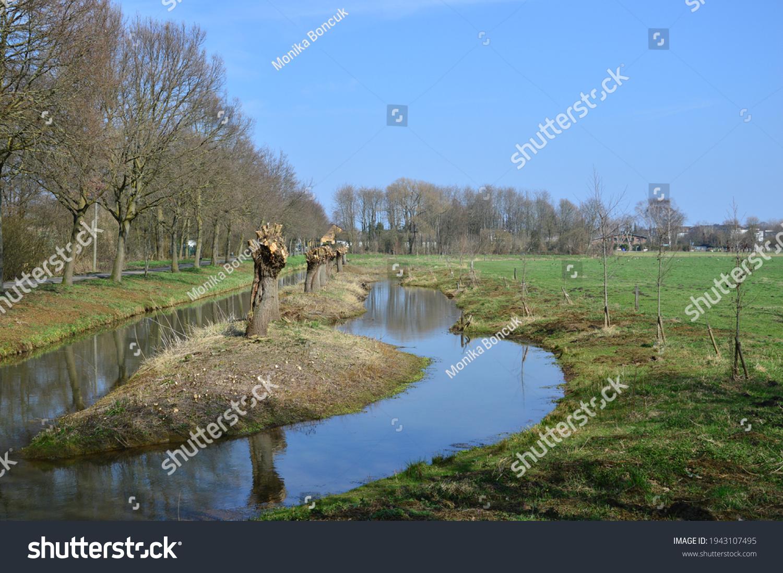 a wonderful typical landscape in lower rhineland