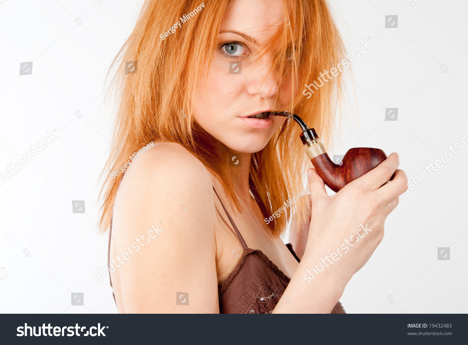 girl smoking pipe stock photo royalty free 19432483 shutterstock