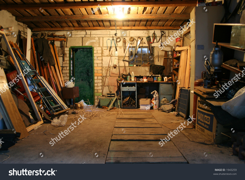 Old Garage Full Tools Stuff Stock Photo 1943259 Shutterstock