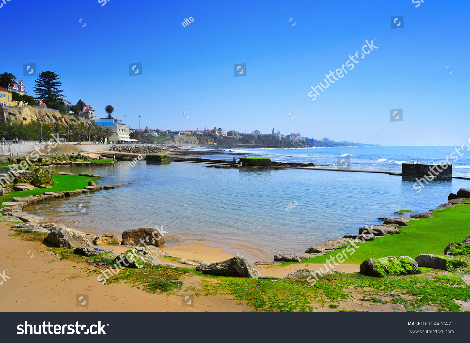Estoril portugal march 19 natural pools stock photo for Best beach vacations in march