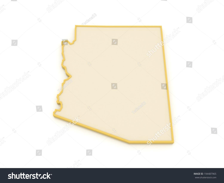3d Map Of Arizona.Royalty Free Stock Illustration Of Threedimensional Map Arizona Usa