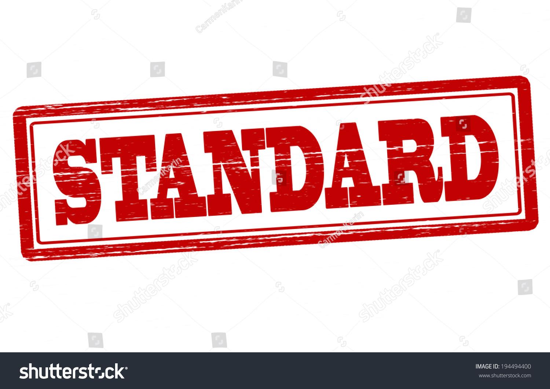 stamp word standard inside vector illustration stock vector