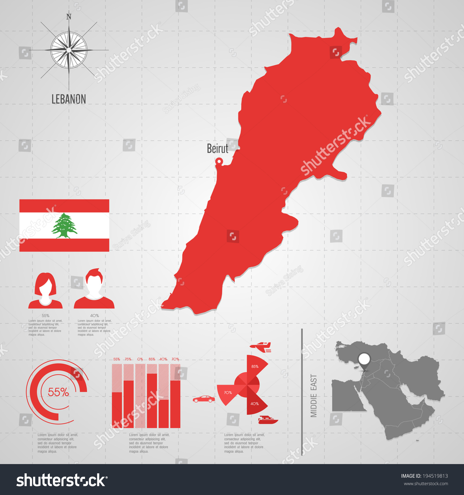 Republic lebanon flag asia world map stock vector 194519813 republic lebanon flag asia world map stock vector 194519813 shutterstock gumiabroncs Images