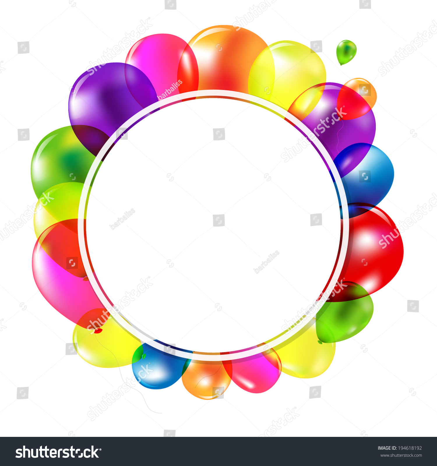 Happy Birthday Banner Balloons Gradient Mesh Stock Vector ...