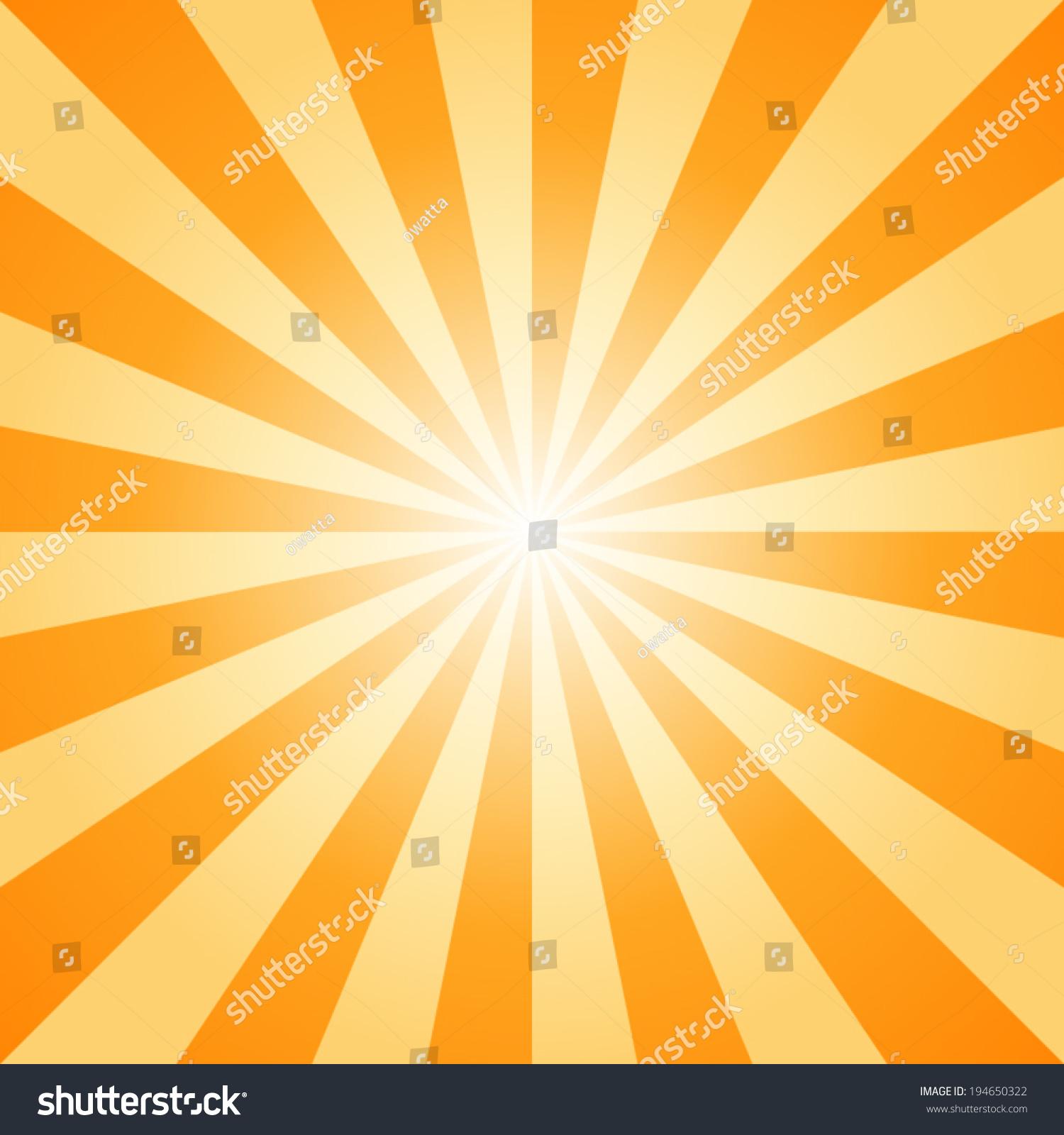 Sunburst Orange Light Ray Vector Illustration Stock Vector ...