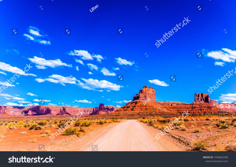 Red rock canyon desert road landscape. Desert road un red rock canyon. Red rock canyon desert road panorama #1946662330