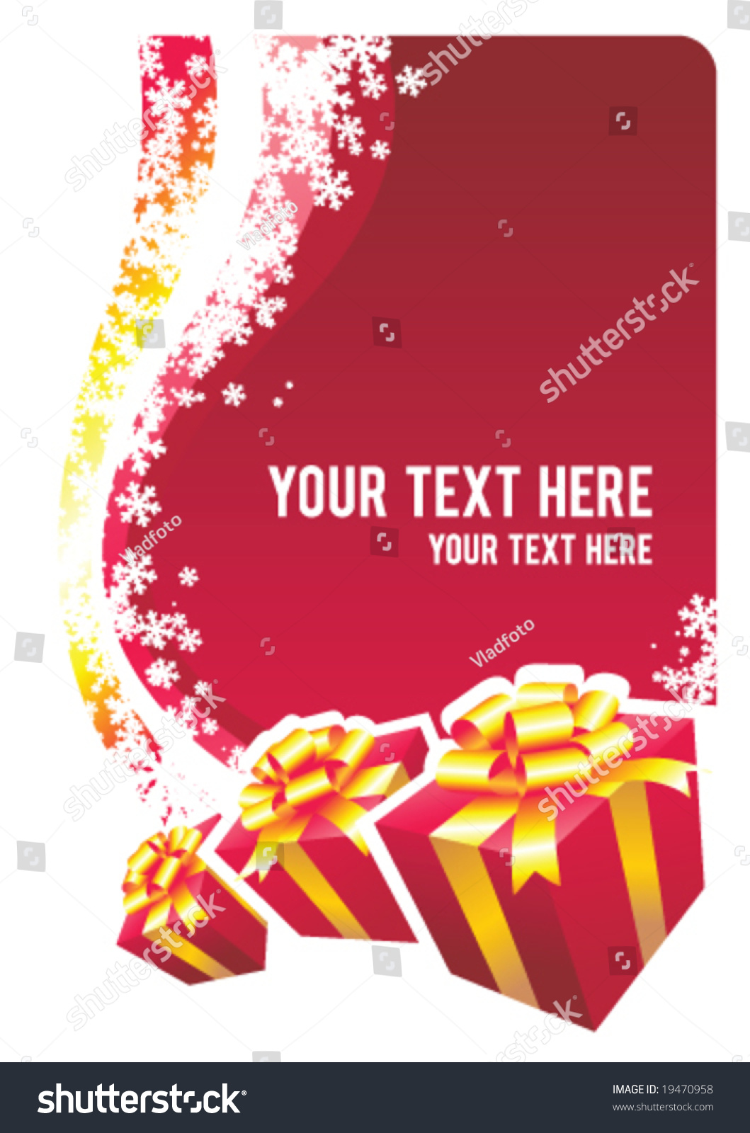 Christmas design copy space vector illustration stock for Copy design