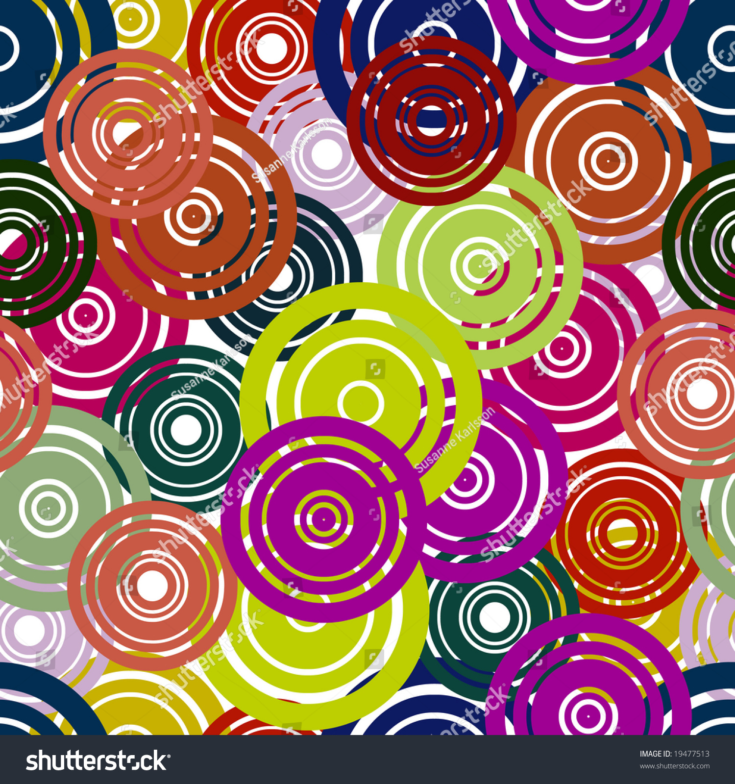 Retro Flower Pattern In Fashion Trend Colors Stock Photo ...