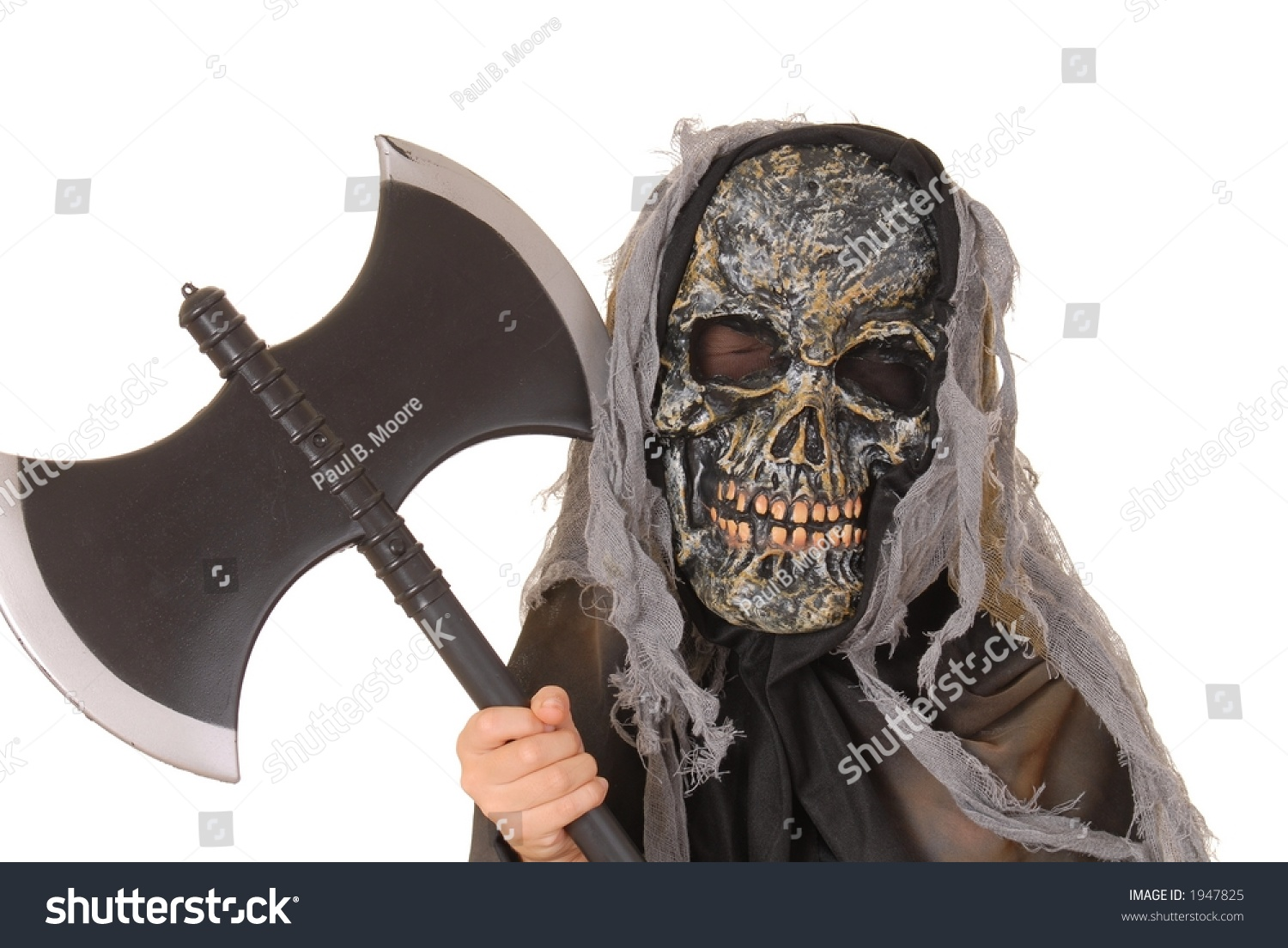 Young Boy Ghoul Halloween Costume Stock Photo 1947825 - Shutterstock