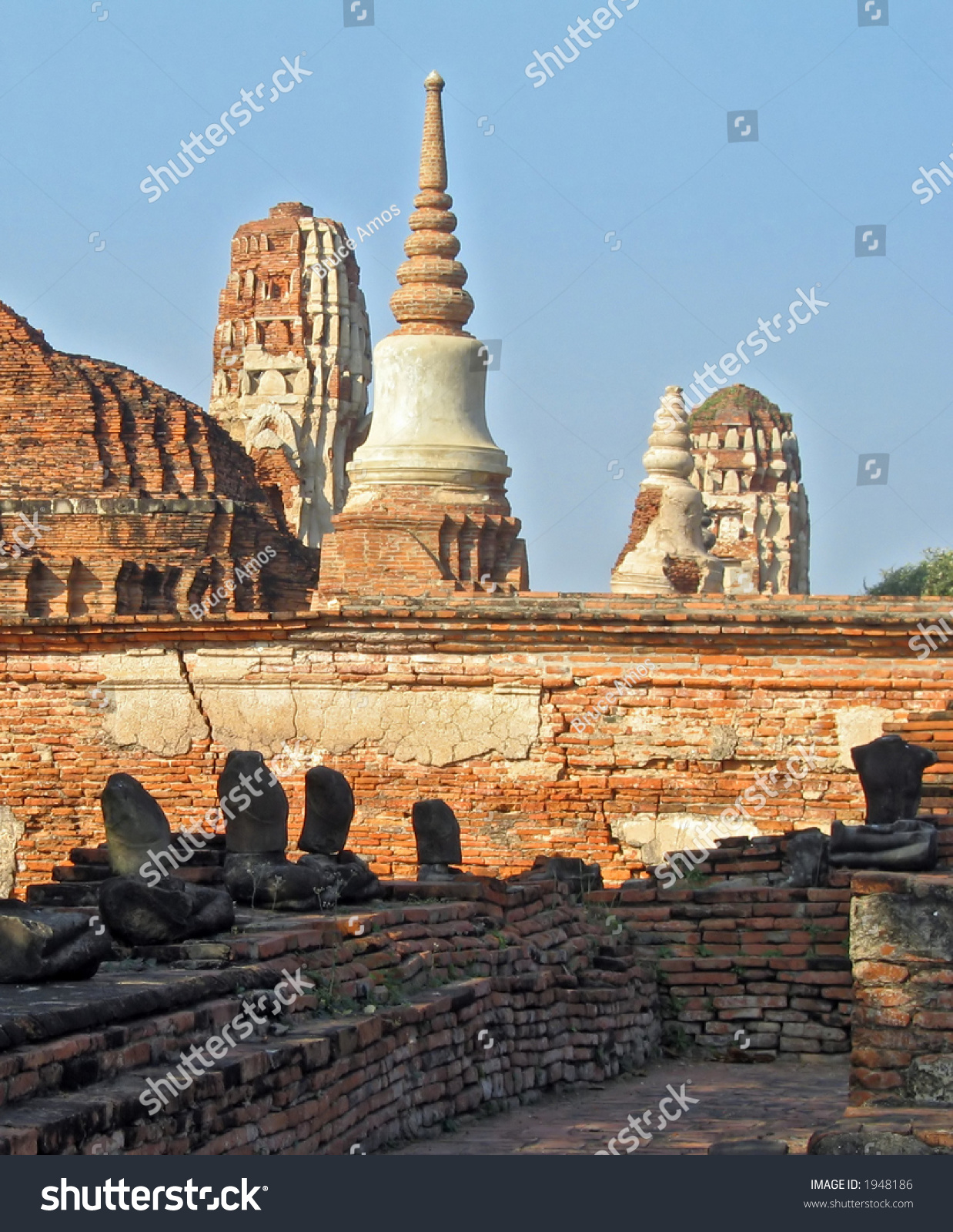 ruins at the ancient capital of thailand stock photo. Black Bedroom Furniture Sets. Home Design Ideas