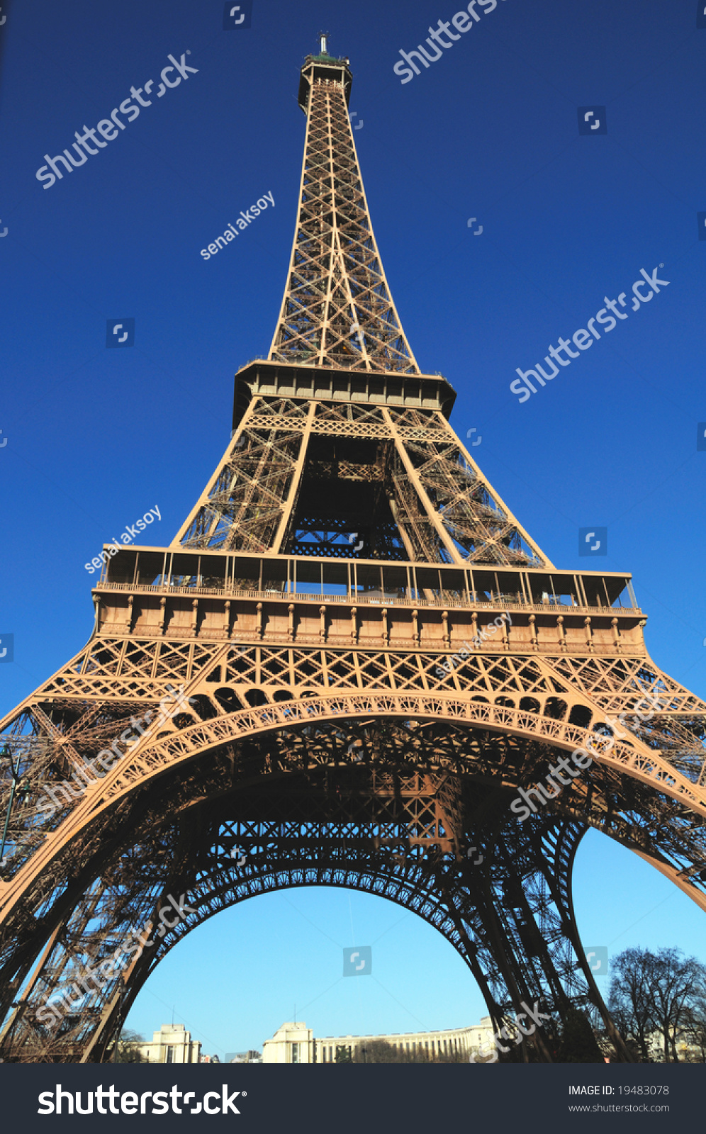 The Eiffel Tower Is An Iron Tower Built On The Champ De