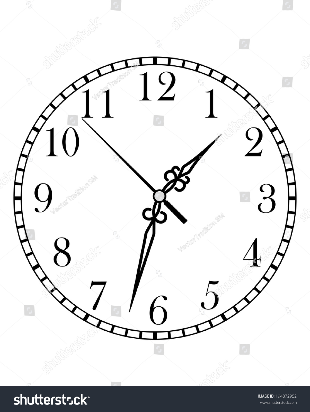 Line Drawing Of Clock Face : Worksheet clock faces with hands fun