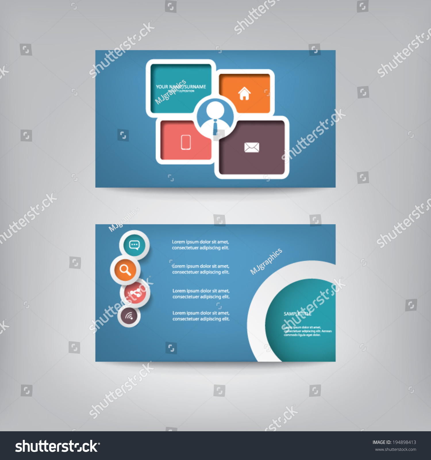 Modern Blank Business Card Template Contemporary Vector – Blank Business Card Template