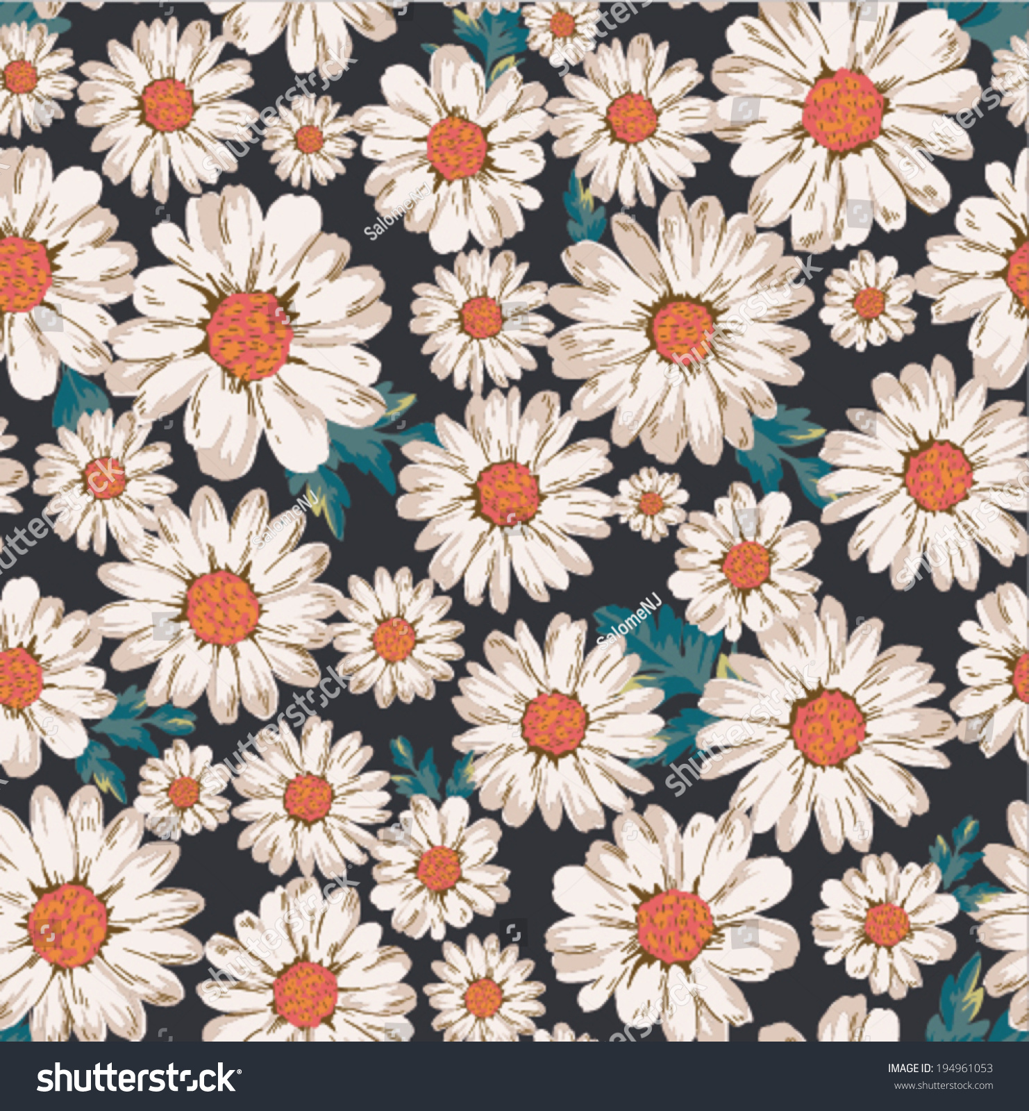 Daisy pattern wallpaper - photo#25