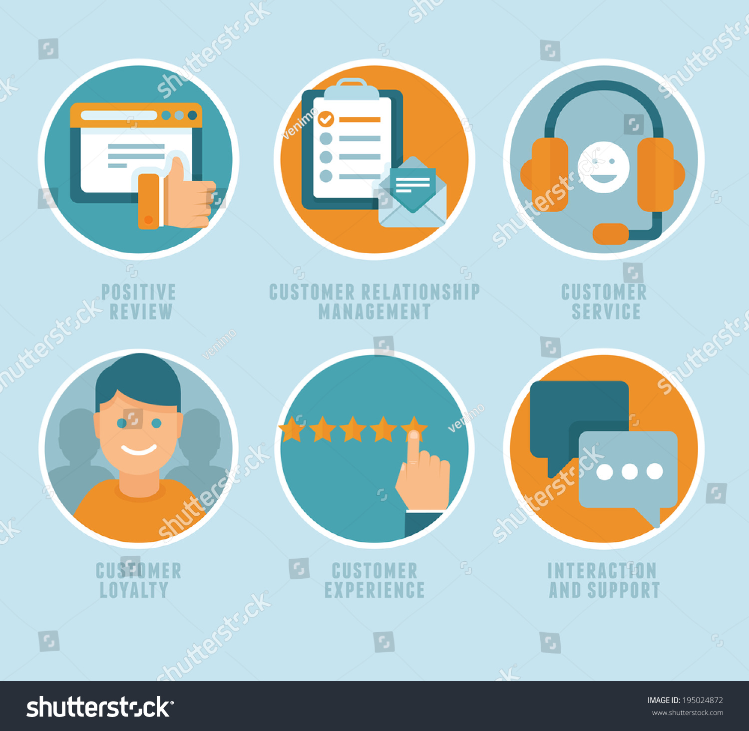vector flat customer experience concepts icons stock vector vector flat customer experience concepts icons and infographic design elements positive review customer