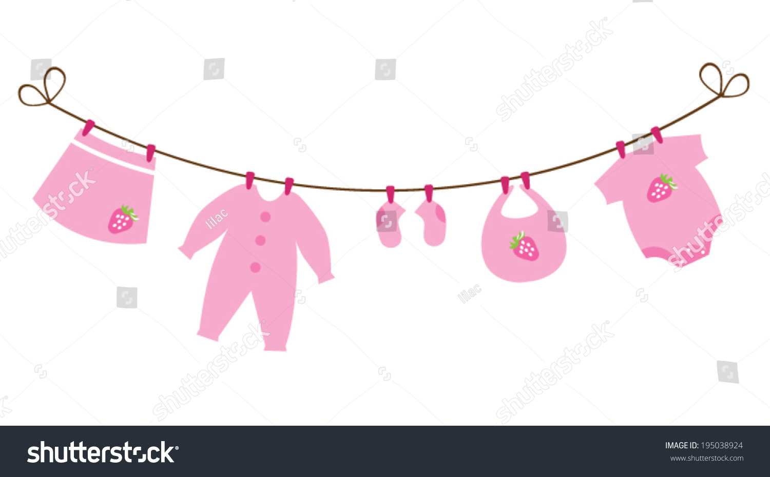 Vector Baby Shower Card Bunting Baby Stock Vector Royalty Free