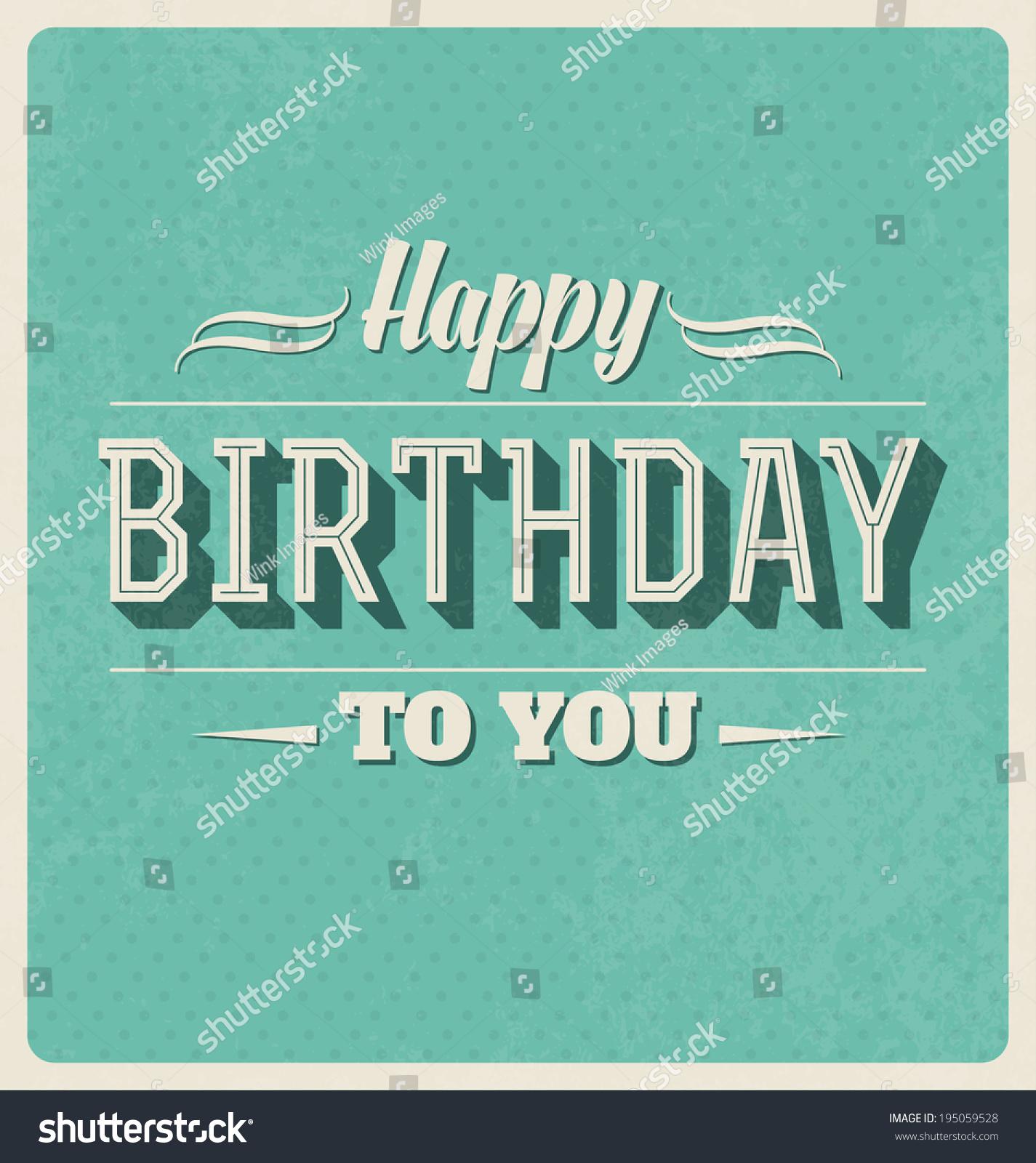 Bildergebnis für Birthday Card Retro