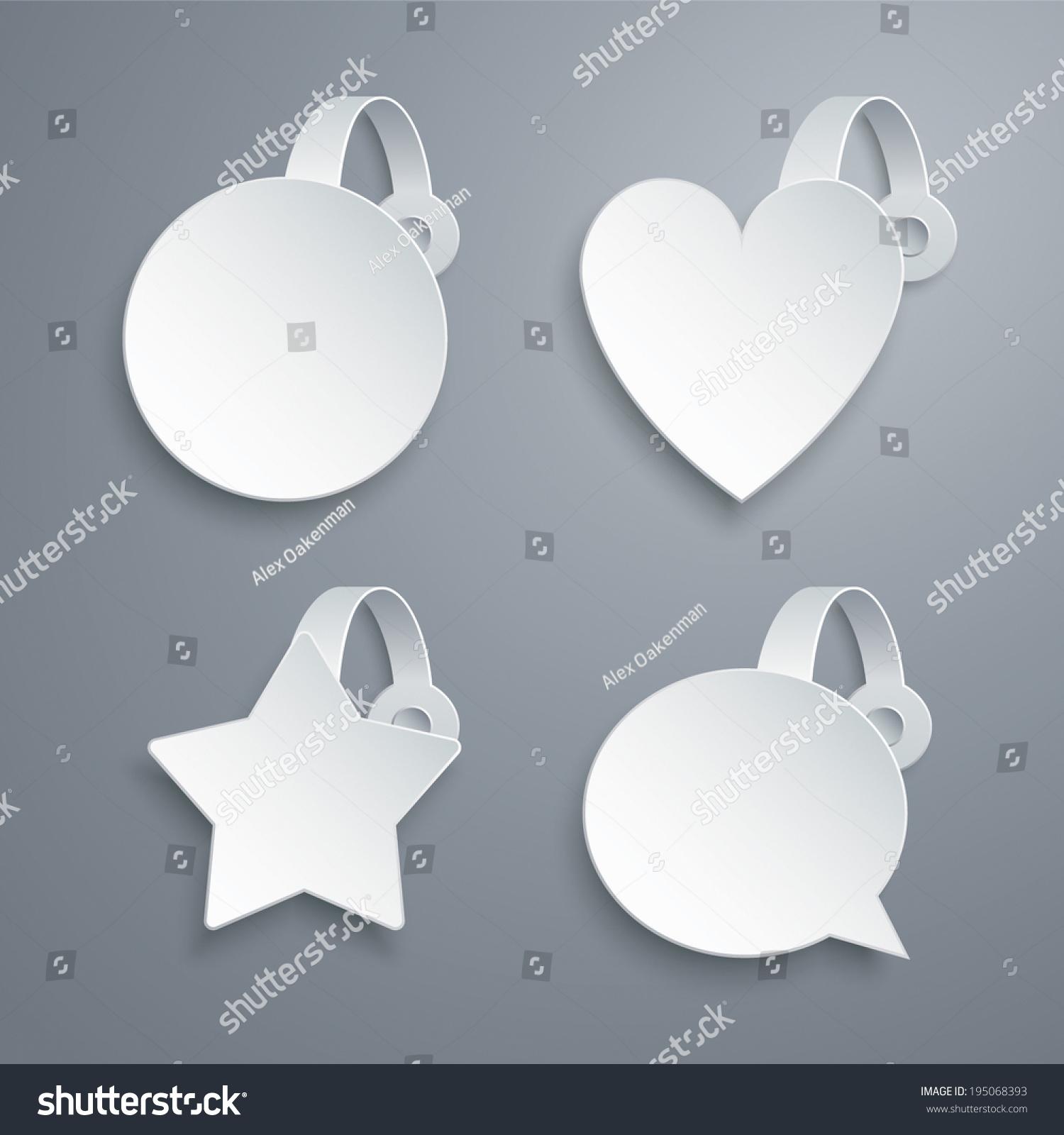 Vector Wobbler Templates Set Circle Heart Stock Vector Royalty Free