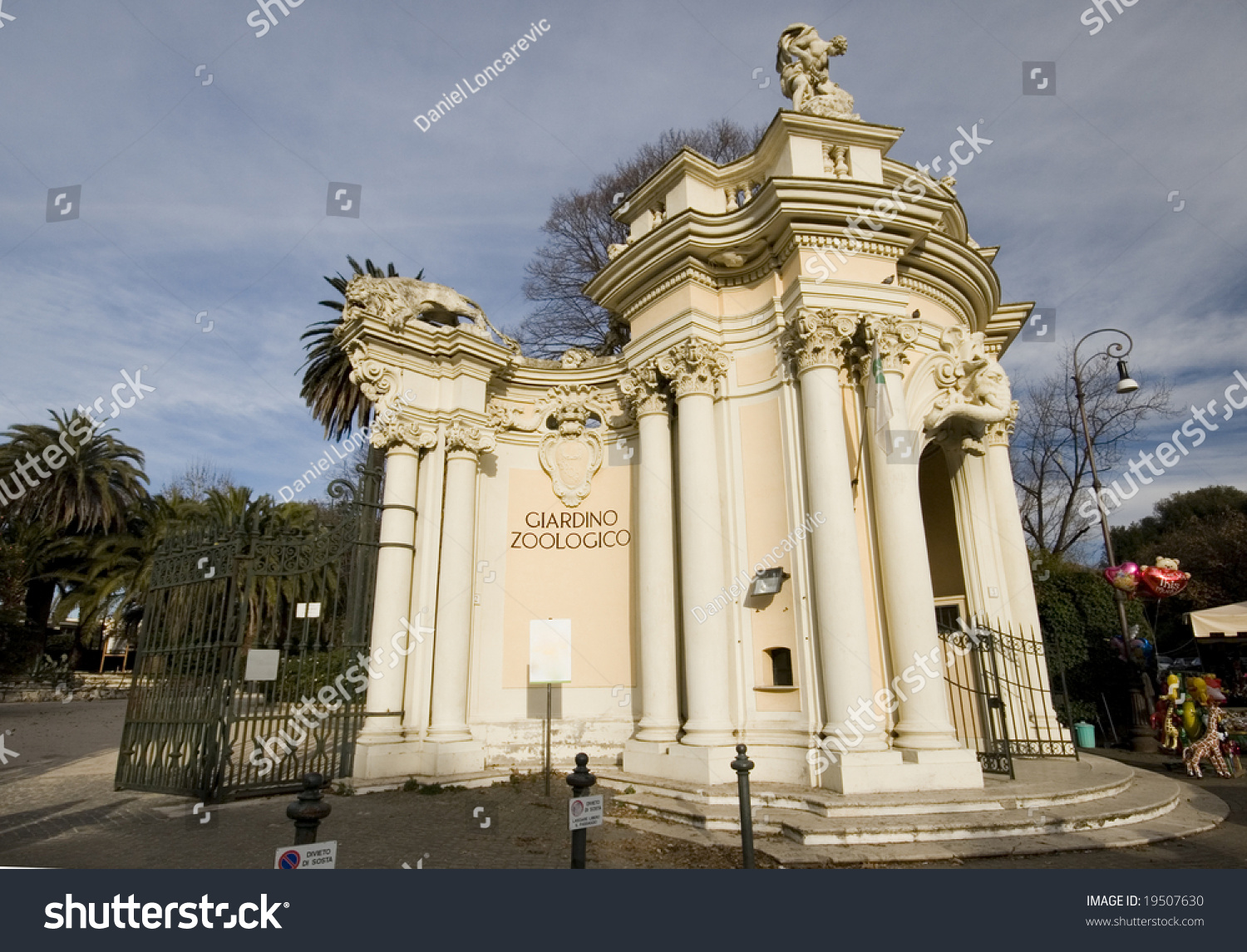 Entrance In The Zoo Of Rome In Italy Stock Photo 19507630
