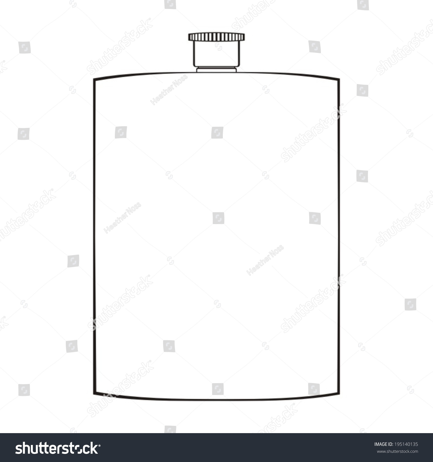 Flask Template | Royalty Free Flask Template Blank Alcohol Flask 195140135 Stock