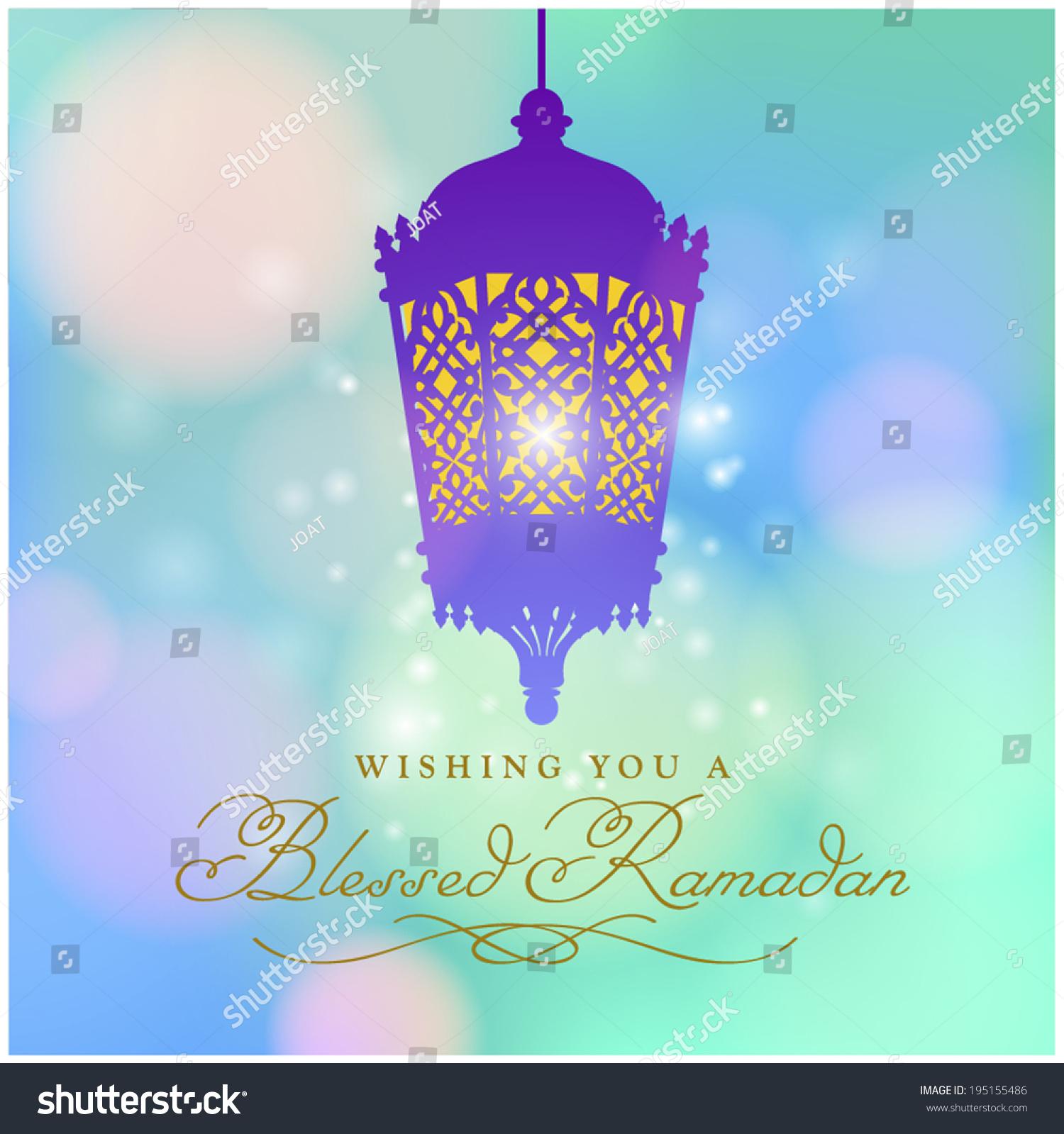 Ramadan Greeting Card Design English Message Stock Vector Royalty