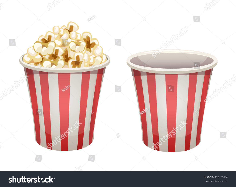 Worksheet Full Empty vector popcorn bucket isolated full empty stock 195166034 and empty