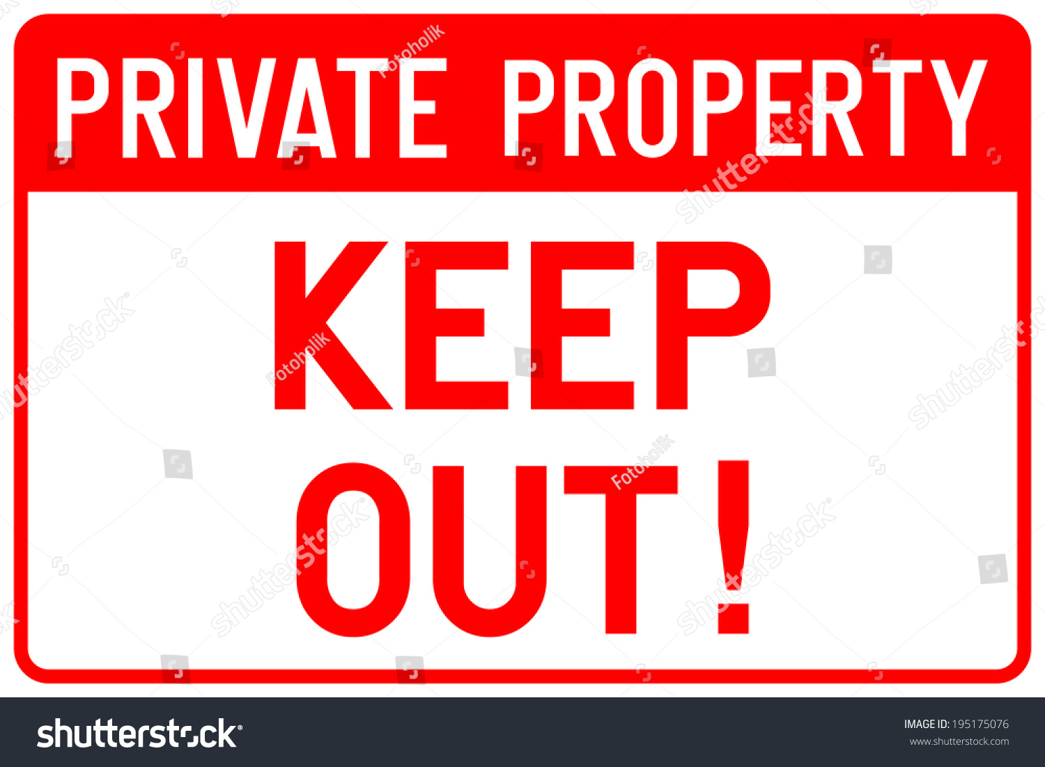 private property sign vector stock vector 195175076 shutterstock