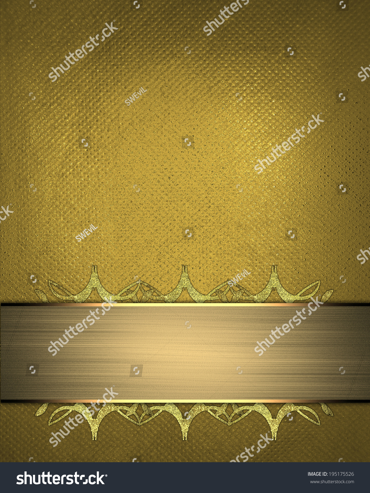 Gold Background Decorative Gold Plate Patterns Stock Illustration ...