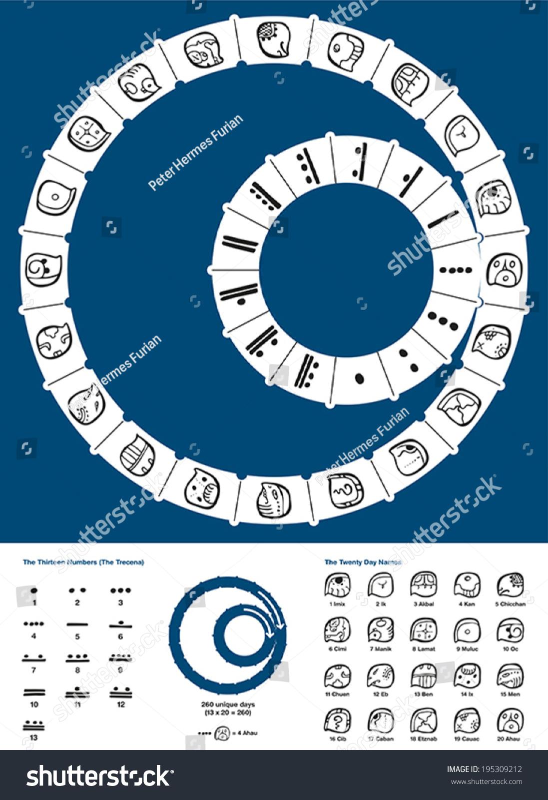 Tzolkin maya calendar 260day mesoamerican calendar stock vector tzolkin maya calendar the 260 day mesoamerican calendar originated by the maya civilization of buycottarizona