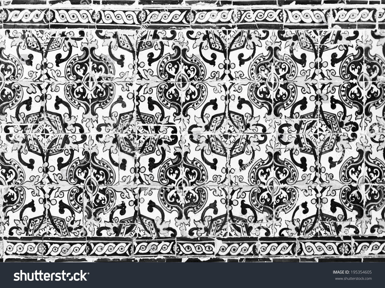 Vintage azulejos ancient tiles dormition mostholy stock photo 195354605 shutterstock - Azulejos vintage ...