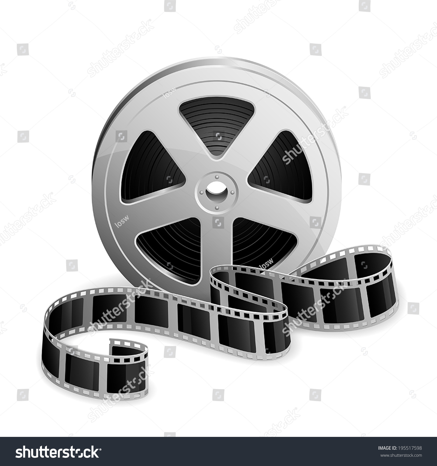 Film Reel Twisted Cinema Tape Isolated Stock Vector ...