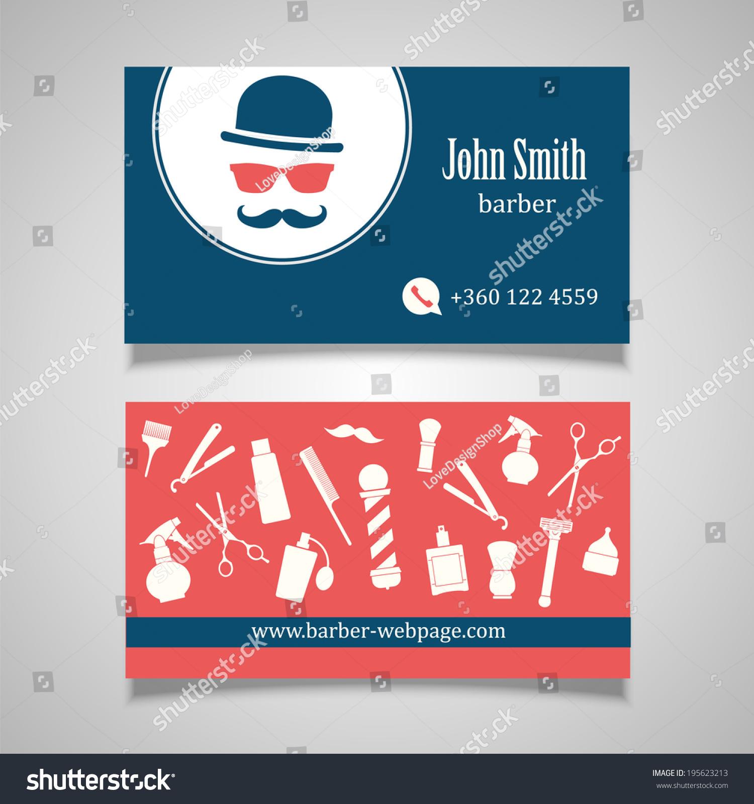 Hair Salon Barber Business Card Design Stock Vector HD (Royalty Free ...