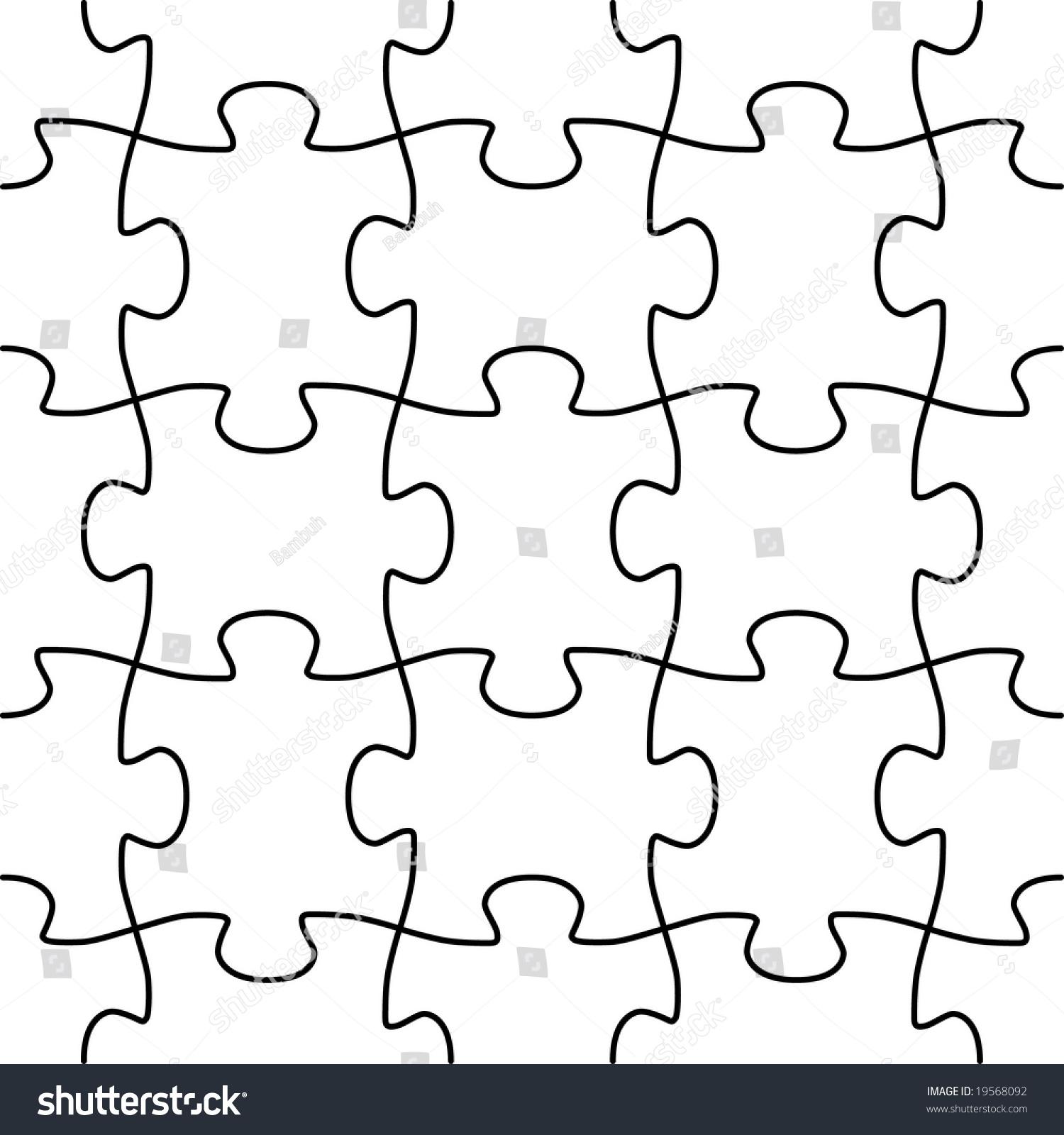Seamless Puzzle Vector Shape Stock Vector 19568092 - Shutterstock
