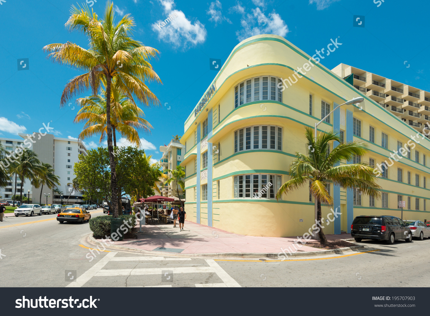 miamiusa may 212014 ocean drive hotels stock photo. Black Bedroom Furniture Sets. Home Design Ideas
