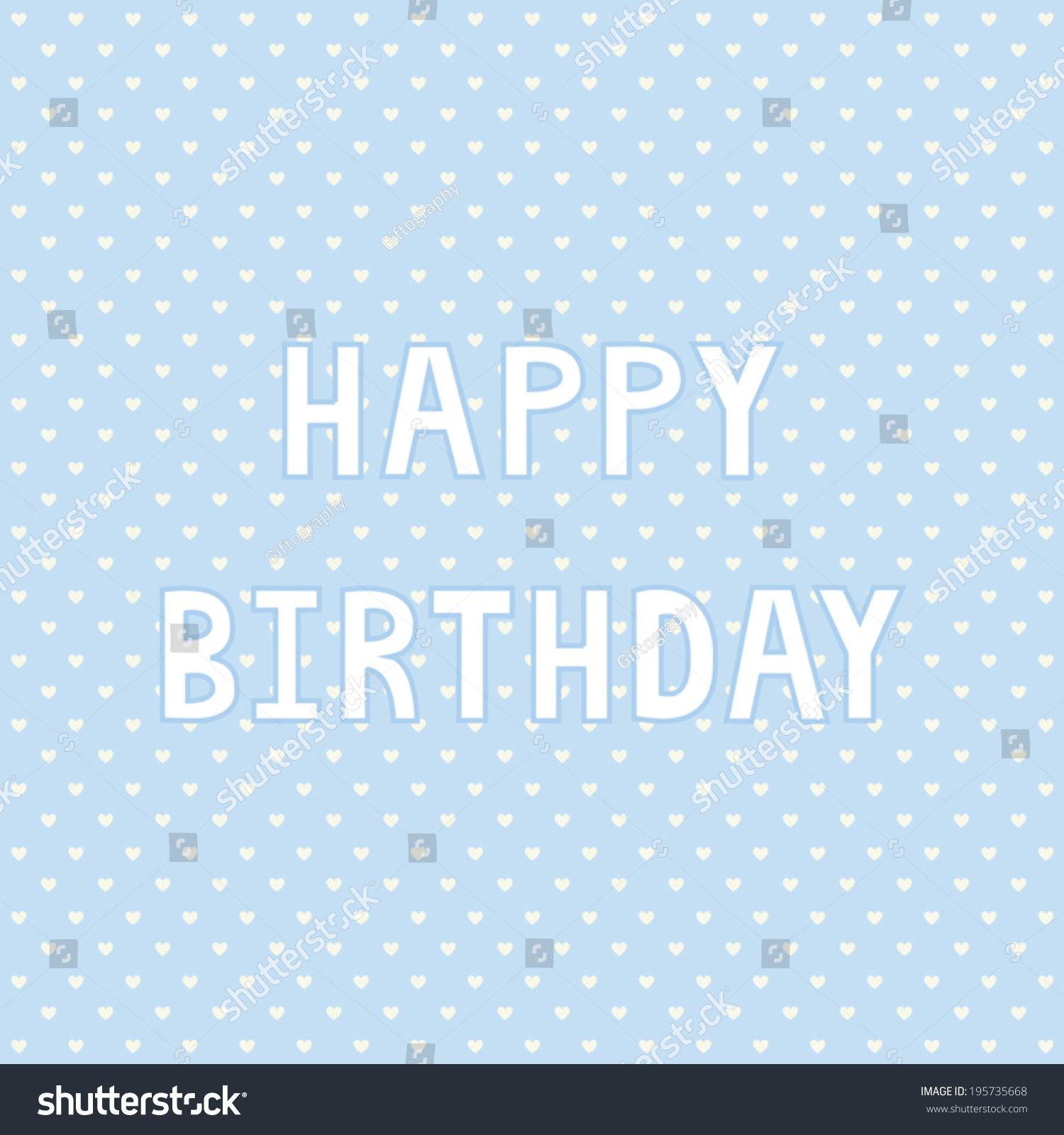 Happy Birthday Card Decoration Stock Vector 195735668 Shutterstock