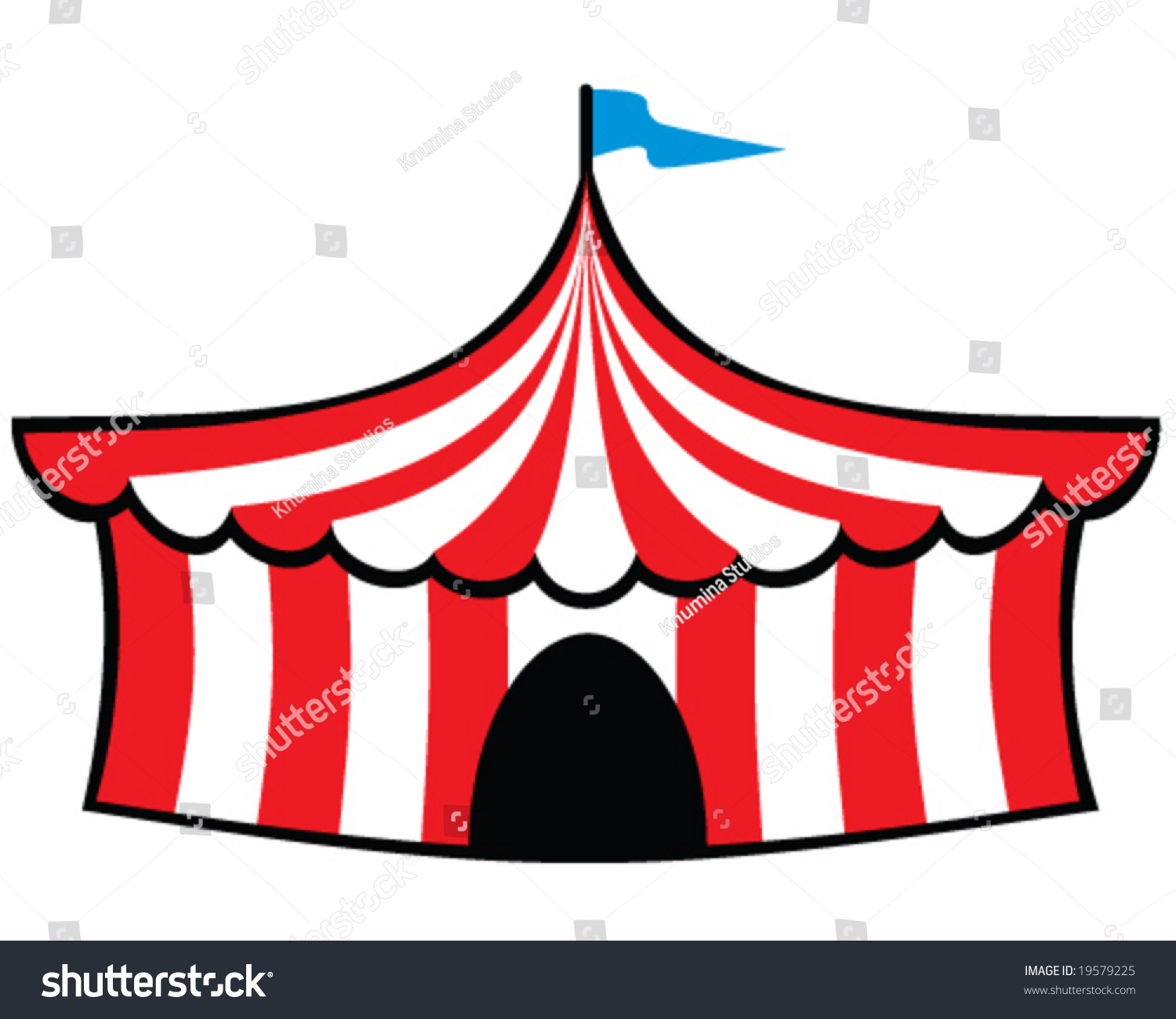 vector big top circus tent  sc 1 st  Shutterstock & Vector Big Top Circus Tent Stock Vector 19579225 - Shutterstock