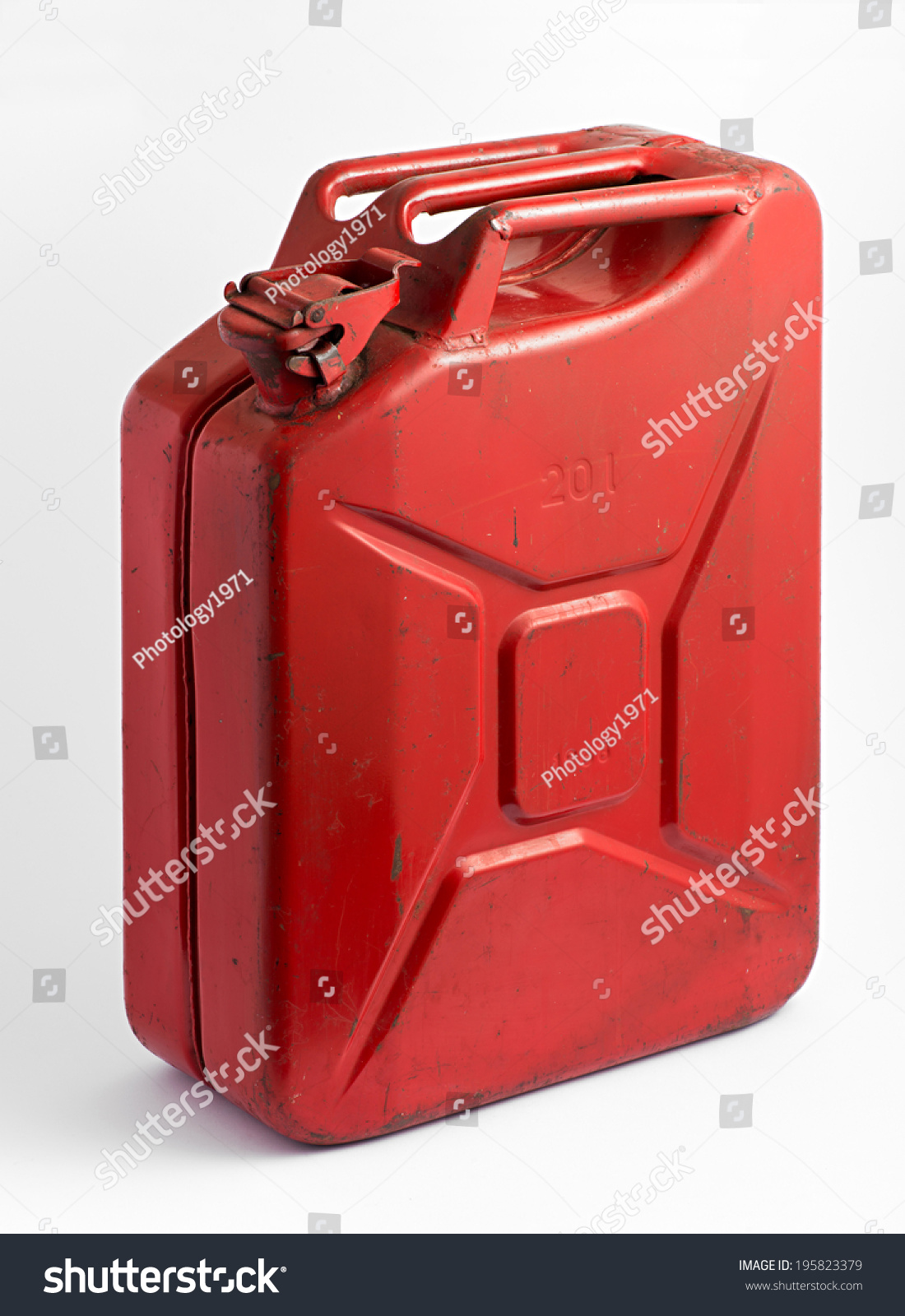 Red Metal Fuel Tank Or Jerry Can For Transporting And ...