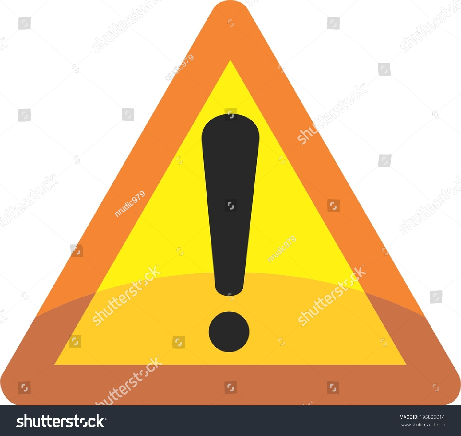 Red - Yellow Triangle (Attention Sign) With Exclamation ...