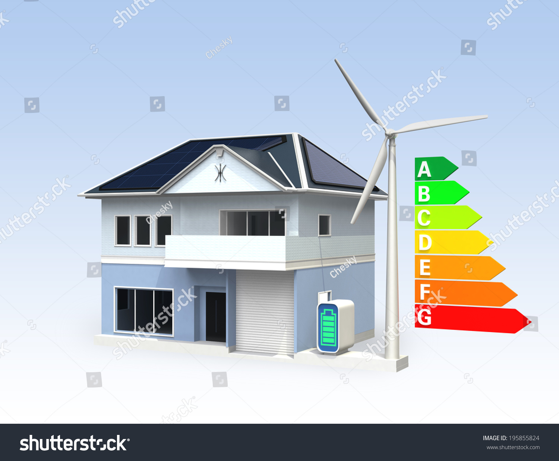 Smart Home Generator : Smart house solar panel storage battery stock illustration