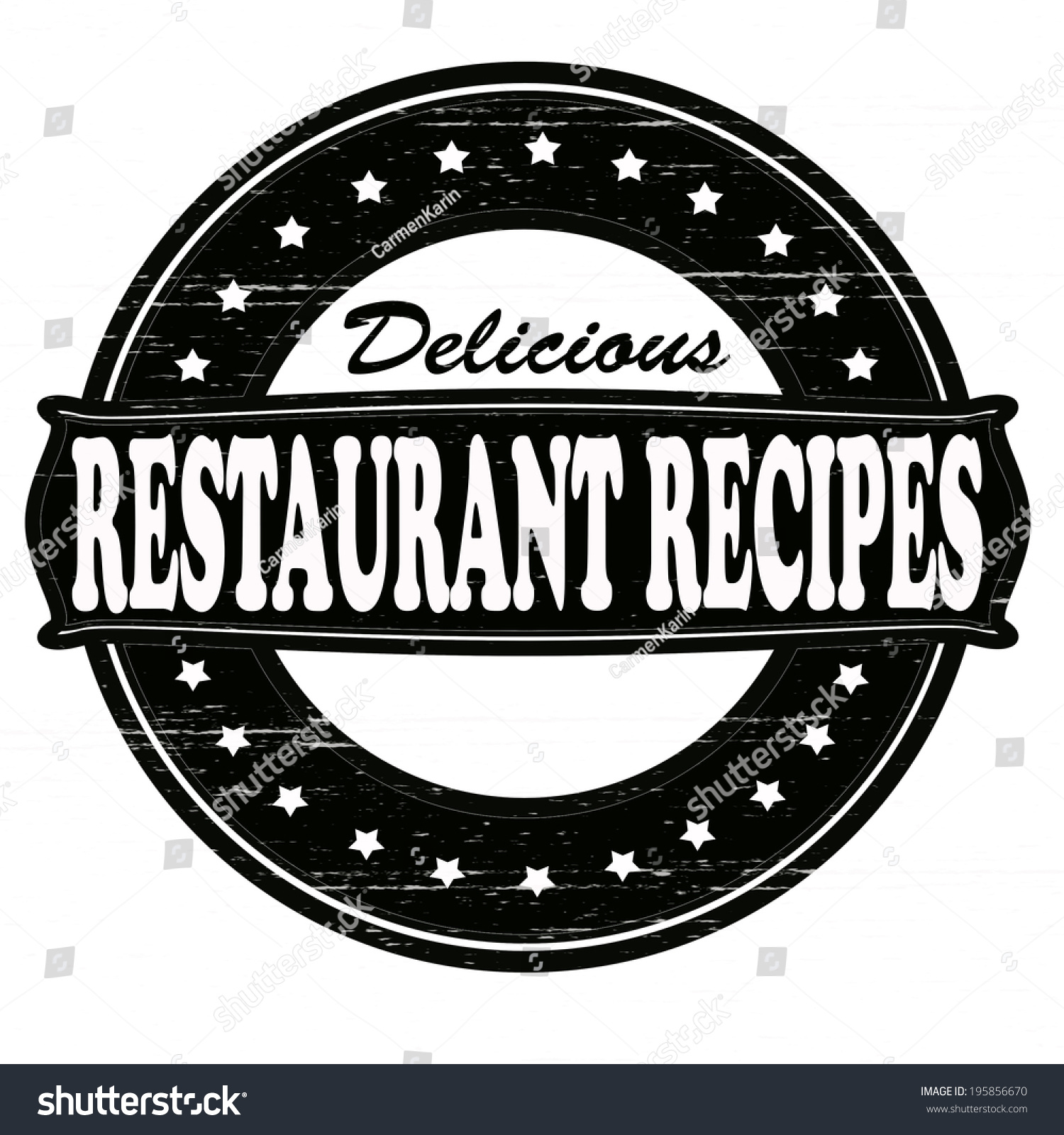Stamp with text delicious restaurant recipes inside vector illustration