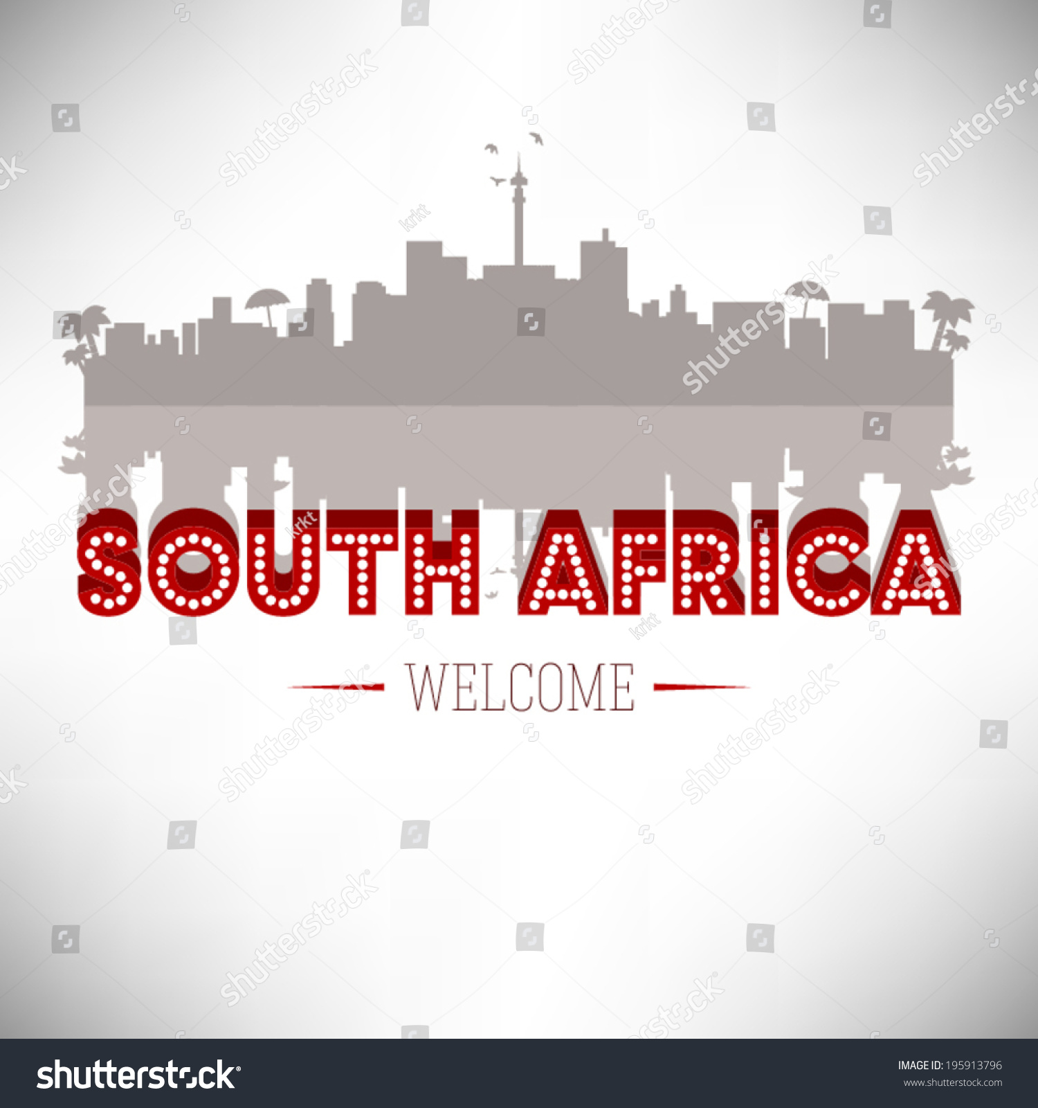 South Africa Greeting Card Vector Design Stock Vector 195913796