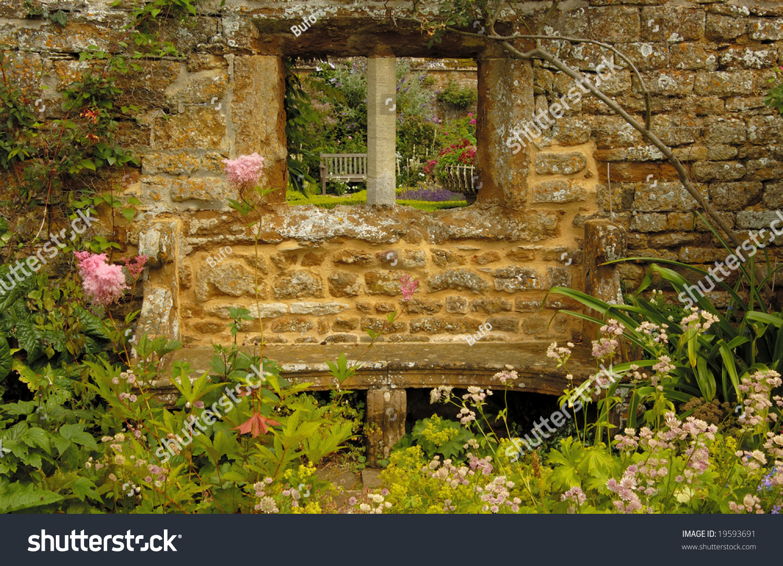 Stone Wall Garden Medieval Castle England Stock Photo (Edit Now ...