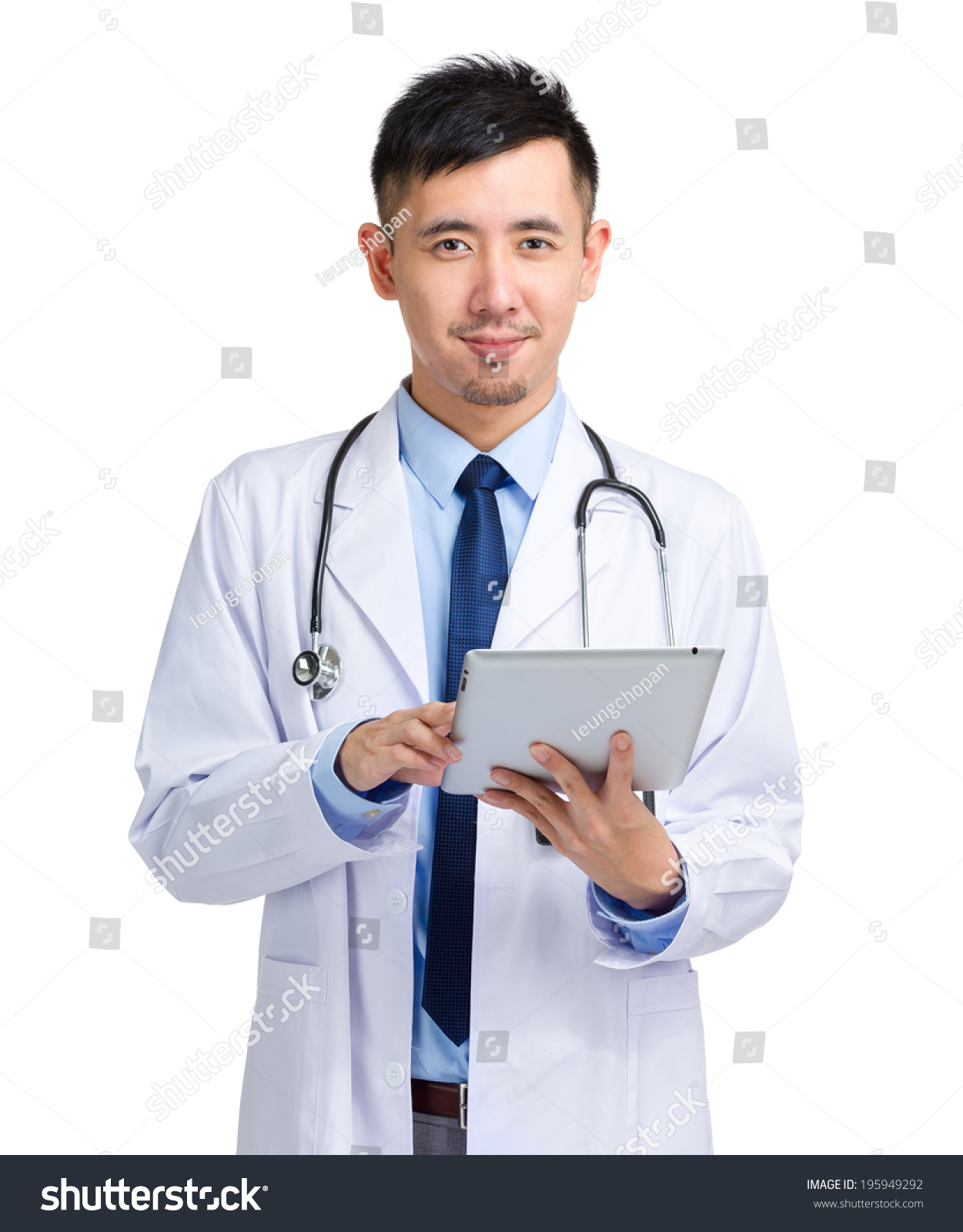 Good Asian male doctor apologise