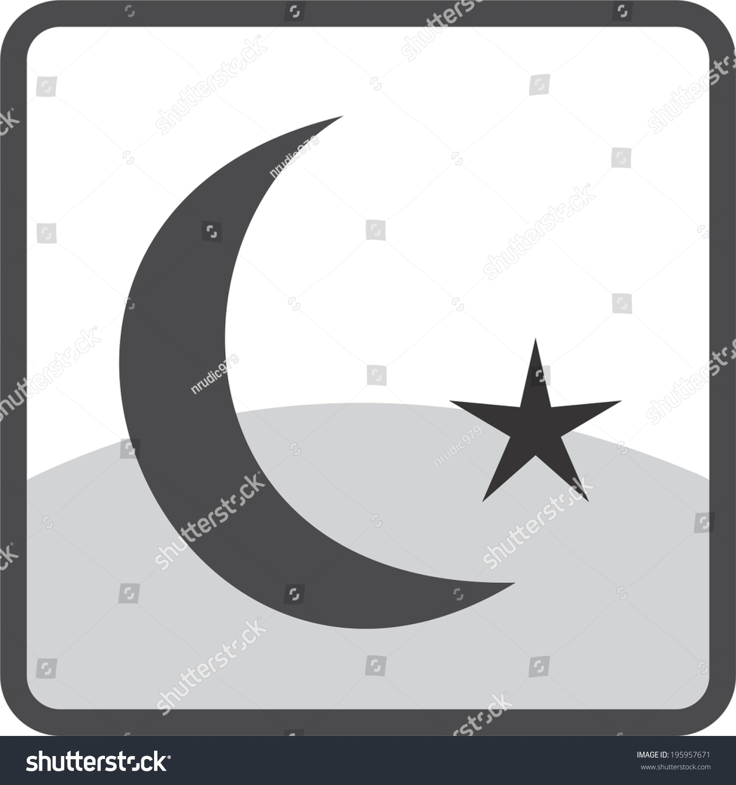Half month star icon stock vector 195957671 shutterstock half a month with star icon buycottarizona Choice Image
